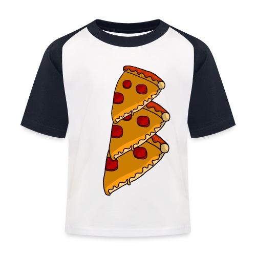 pizza - Baseball T-shirt til børn