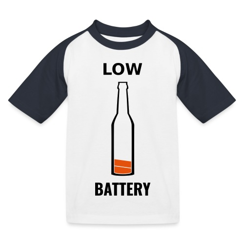 Beer Low Battery - T-shirt baseball Enfant