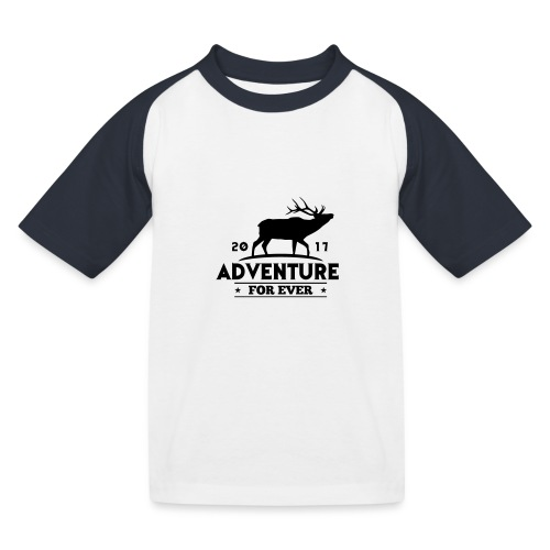 ADVENTURE FOR EVER - CERVO - Maglietta da baseball per bambini