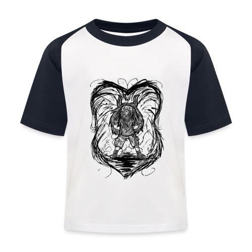 Horned Metalhead - Kids' Baseball T-Shirt