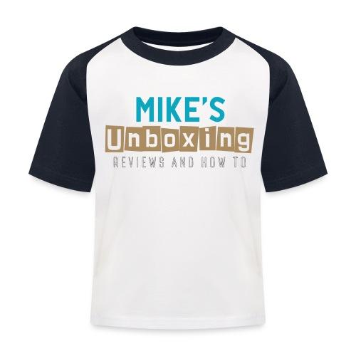Mikesunboxing Classic Logo - Kids' Baseball T-Shirt