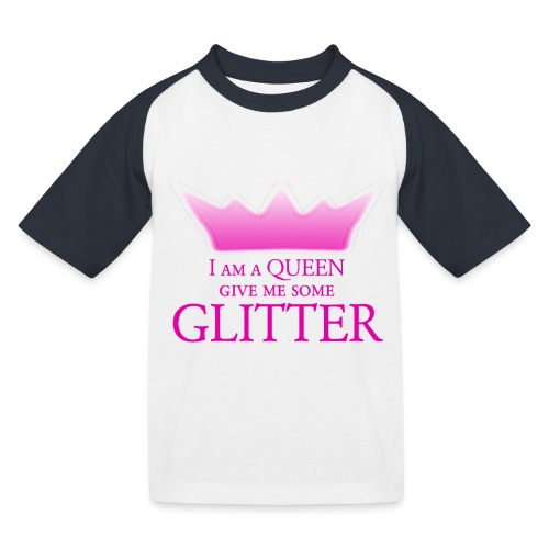 Glitter Queen - Kinder Baseball T-Shirt