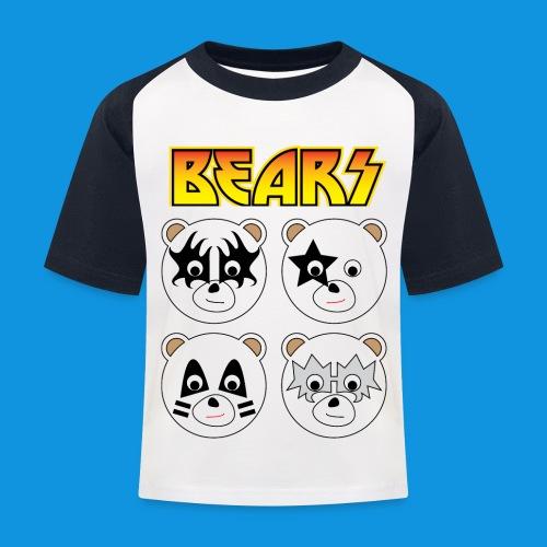 Kiss Bears square.png - Kids' Baseball T-Shirt
