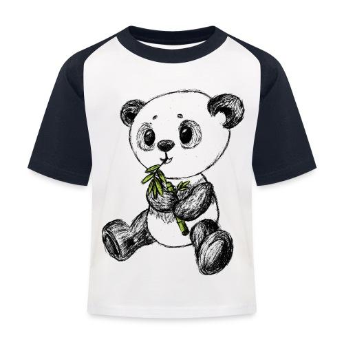 Panda bjørn farvet scribblesirii - Baseball T-shirt til børn