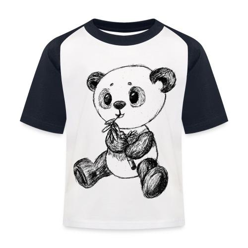 Panda bjørn sort scribblesirii - Baseball T-shirt til børn