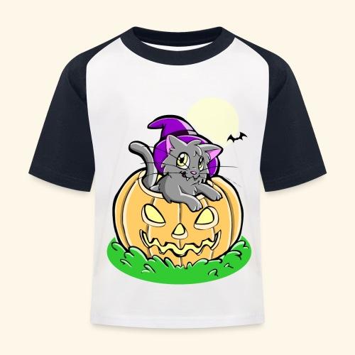 kürbiskatze.PNG - Kinder Baseball T-Shirt