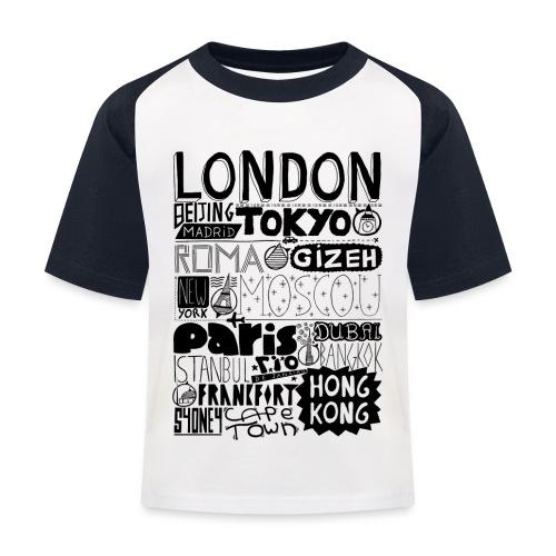 Villes du monde - T-shirt baseball Enfant