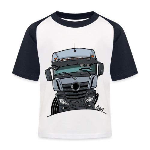 0807 M Truck grijs - Kinderen baseball T-shirt