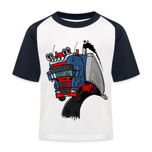 The flying skane man notext - Kinderen baseball T-shirt