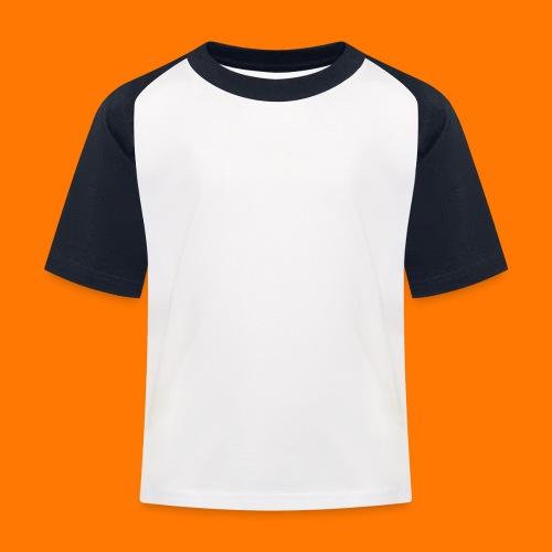 SCP-sign-WHITE transp - Kids' Baseball T-Shirt