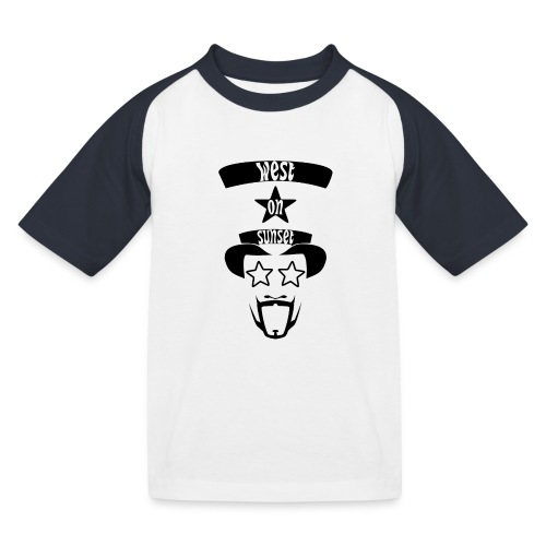 westonsunset_head - Kids' Baseball T-Shirt