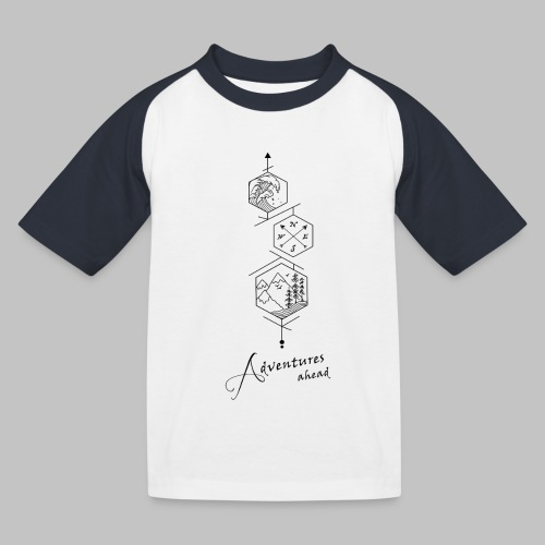 Adventures ahead - Kids' Baseball T-Shirt