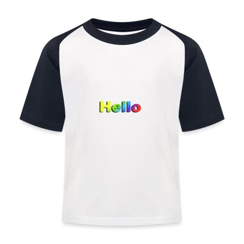 Hello - Koszulka bejsbolowa dziecięca