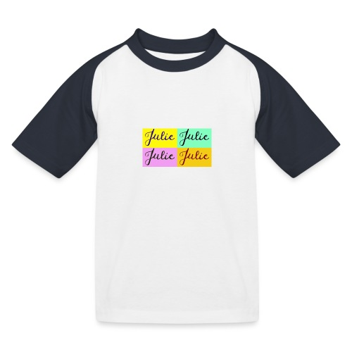 Julie Pop art - T-shirt baseball Enfant