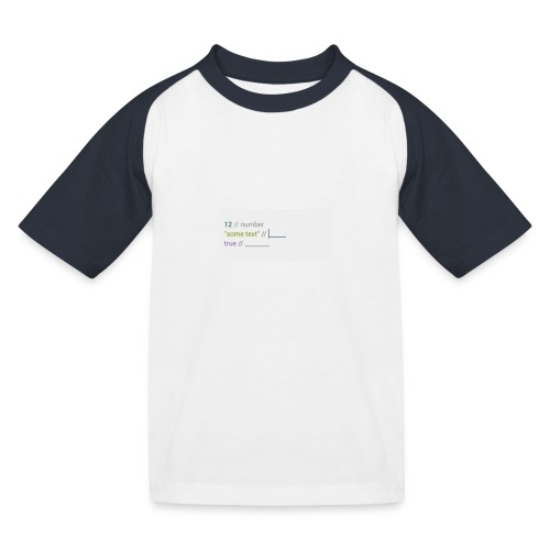 code - T-shirt baseball Enfant