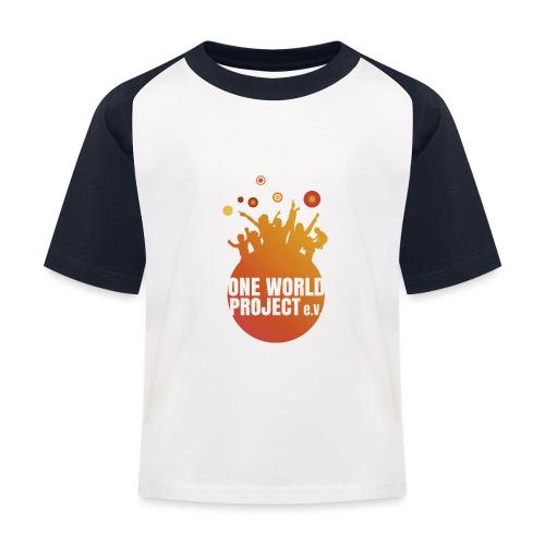 One World Project e. V. - Logo - Kinder Baseball T-Shirt
