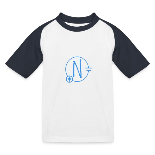 Logo1 blau - Kinder Baseball T-Shirt