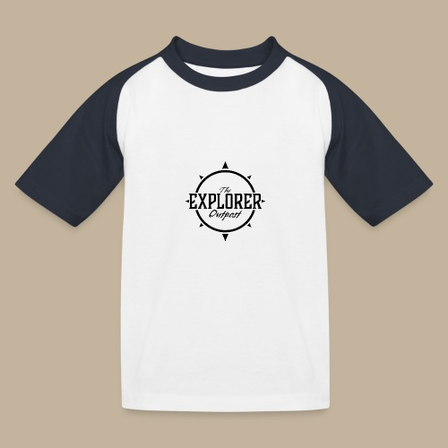 Black TEO Logo - Kids' Baseball T-Shirt