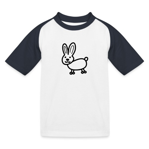 Hase Comicfigur - Kinder Baseball T-Shirt