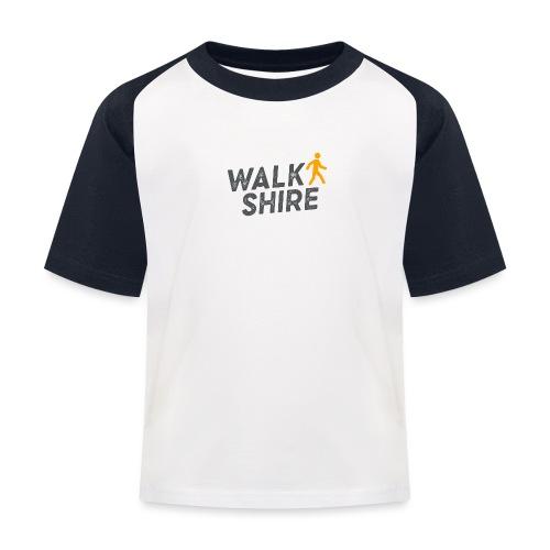 Walkshire logo orange person - Kids' Baseball T-Shirt