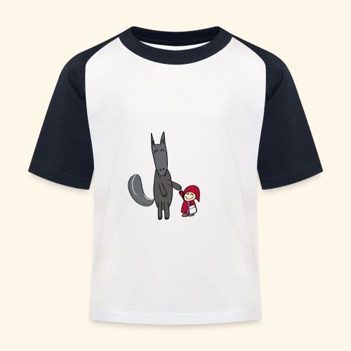 Le loup et le petit chaperon rouge - T-shirt baseball Enfant