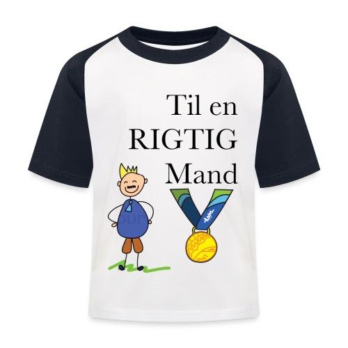 En rigtig mand - Baseball T-shirt til børn