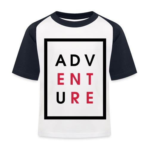 Enter Adventure - Kids' Baseball T-Shirt