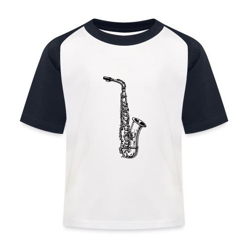 Saxophon - Kinder Baseball T-Shirt