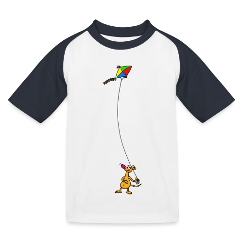 Drachensteigen - Kinder Baseball T-Shirt