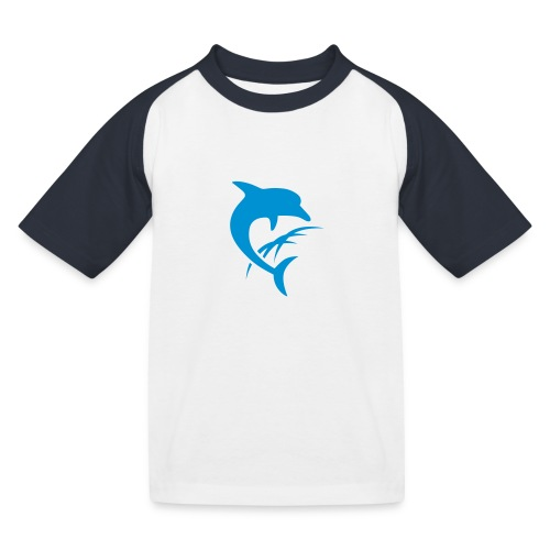 AquaSoftLogo-NurDelphin-B - Kinder Baseball T-Shirt