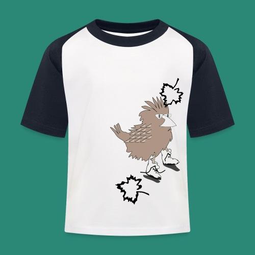 Ein Spatz - Kinder Baseball T-Shirt