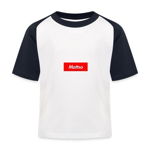 Mattso Merch to Flex - Kids' Baseball T-Shirt