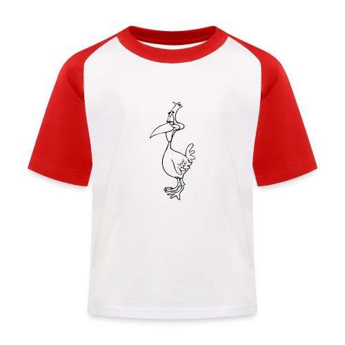 Vogel Design - Kinder Baseball T-Shirt