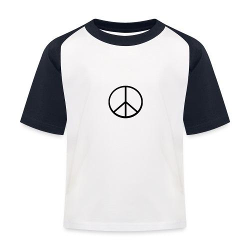 peace - Baseboll-T-shirt barn