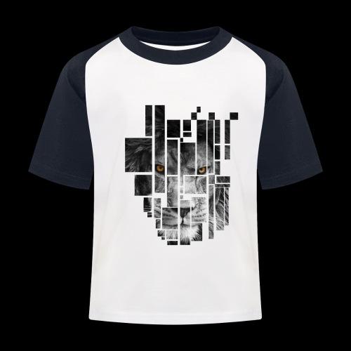 Pixel Lion Tattoo Inspire - Kids' Baseball T-Shirt
