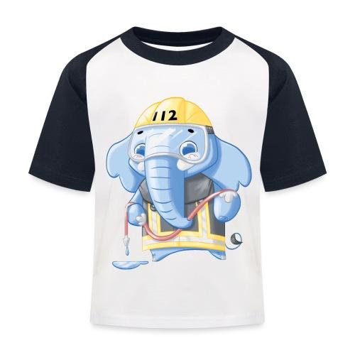 Feuerwehr Elefant - Kinder Baseball T-Shirt