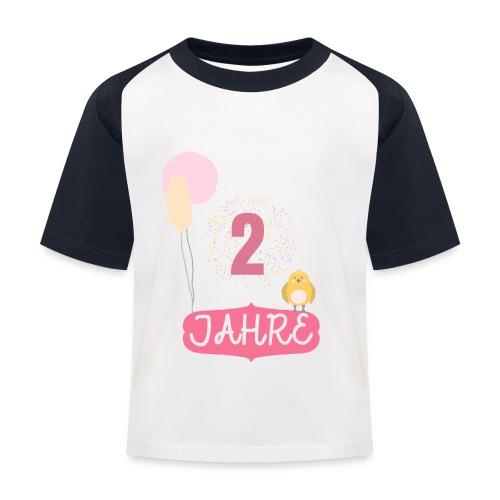 2 Jahre // Geschenk zum 2. Geburtstag - Kinder Baseball T-Shirt