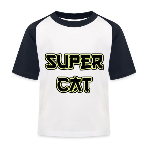 Super Cat - Kinder Baseball T-Shirt
