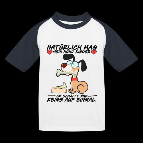 Dog - Kinder Baseball T-Shirt