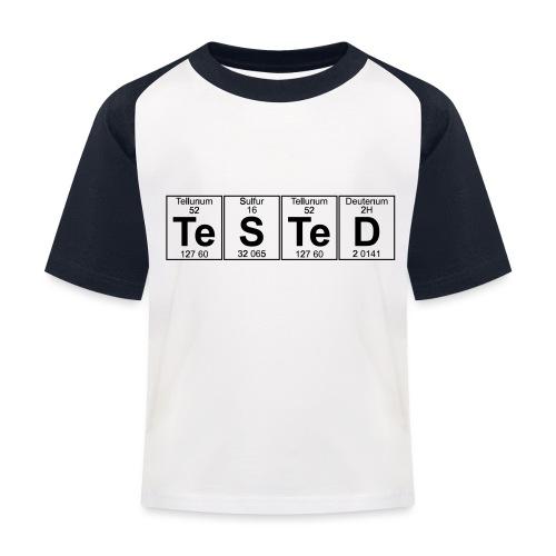 Te-S-Te-D (tested) (small) - Kids' Baseball T-Shirt