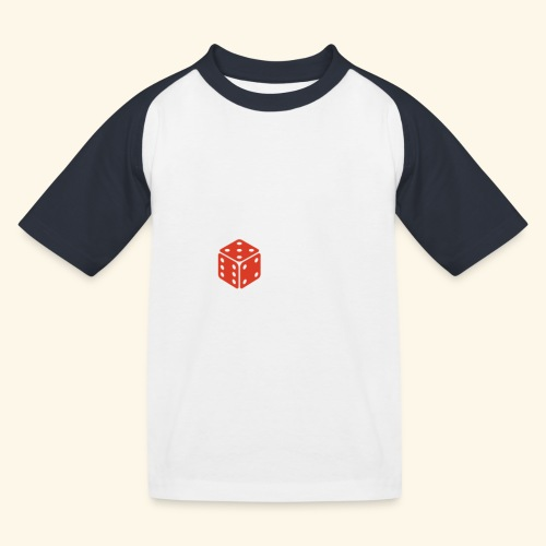 LOVE Cross white wuerfel red 001 - Kinder Baseball T-Shirt