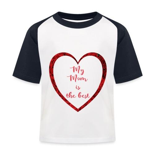 Best Mom - Kinder Baseball T-Shirt