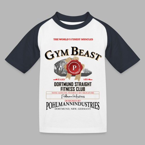 GYM BEAST - Kinder Baseball T-Shirt