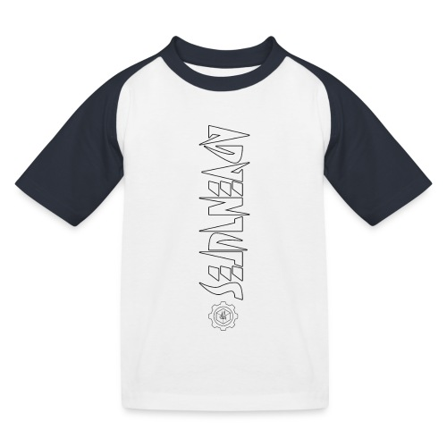 Jebus Adventures Vertical Stripe - Kids' Baseball T-Shirt