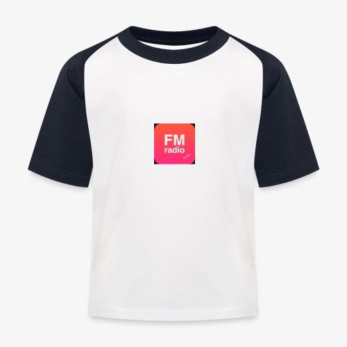 logo radiofm93 - Kinderen baseball T-shirt