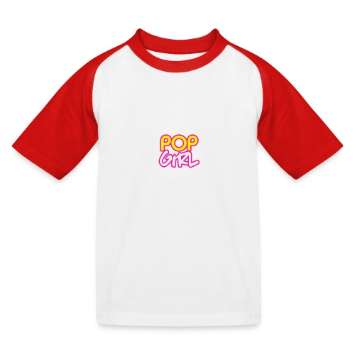 Pop Girl logo - Kids' Baseball T-Shirt