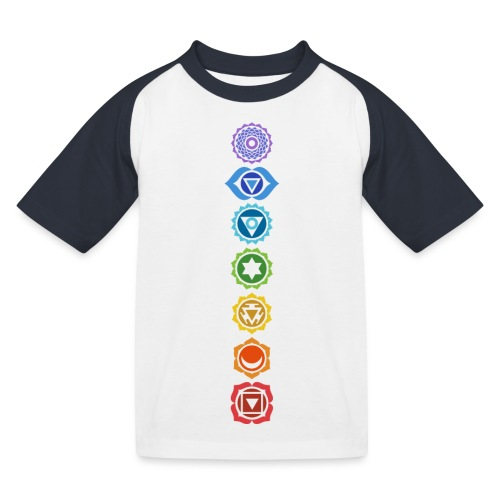The 7 Chakras, Energy Centres Of The Body - Kids' Baseball T-Shirt