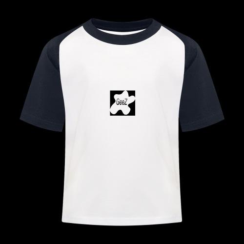 Black/white Art - Kids' Baseball T-Shirt