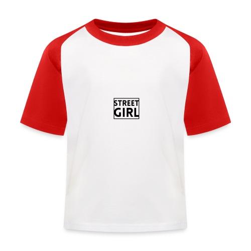 girl - T-shirt baseball Enfant