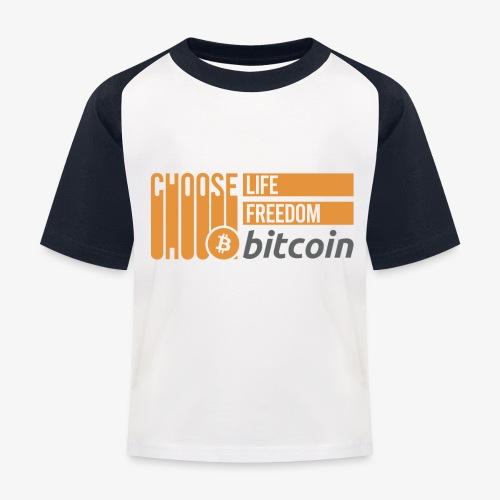 Bitcoin - T-shirt baseball Enfant